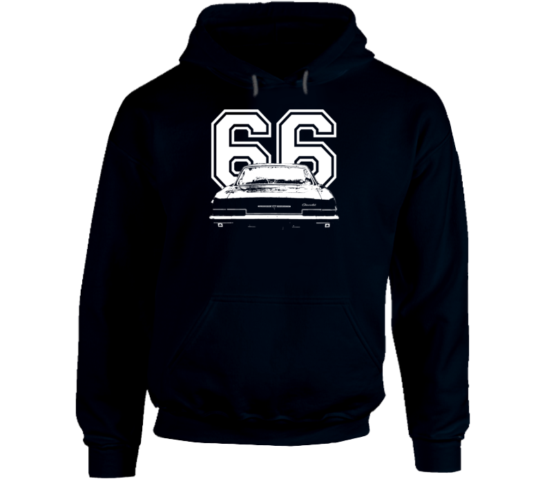 1966 Impala Rear View With Year Super Comfy High Quality Dark Color Hoodie