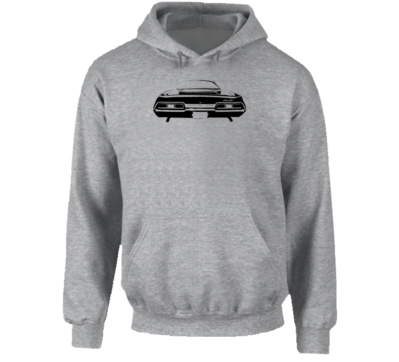 1967 Impala Rear View Super Comfy High Quality Light Color Hoodie
