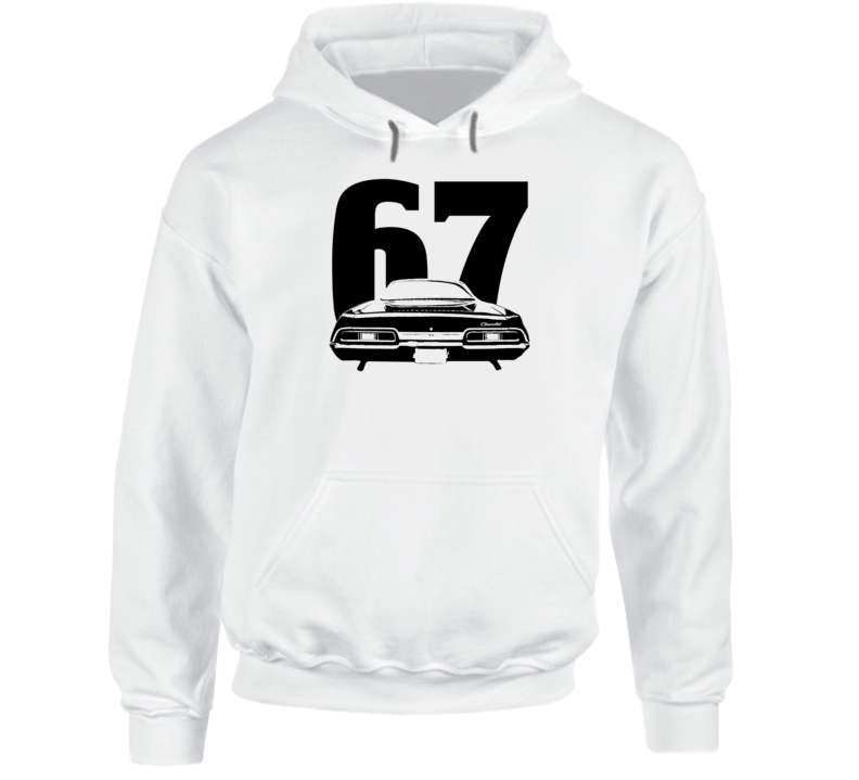 1967 Impala Rear View With Year Super Comfy High Quality Light Color Hoodie