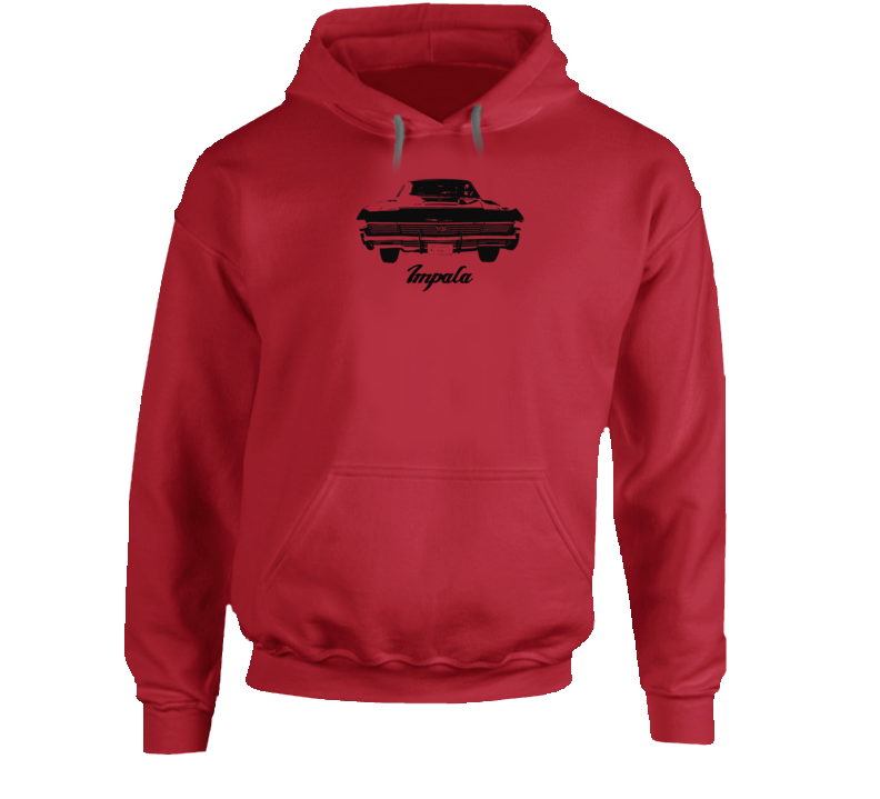 1968 Impala Rear View With Model Name Super Comfy High Quality Light Color Hoodie