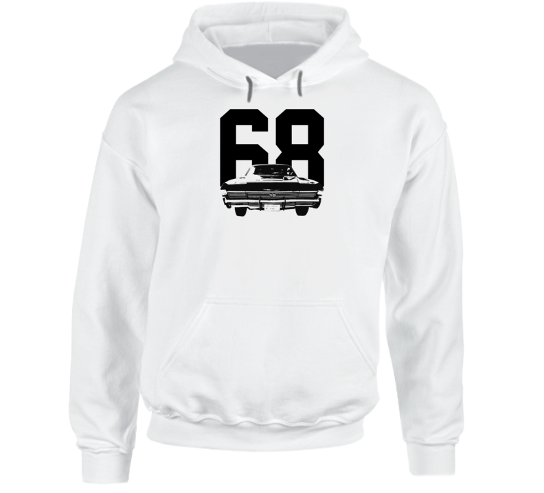 1968 Impala Rear View With Year Super Comfy High Quality Light Color Hoodie