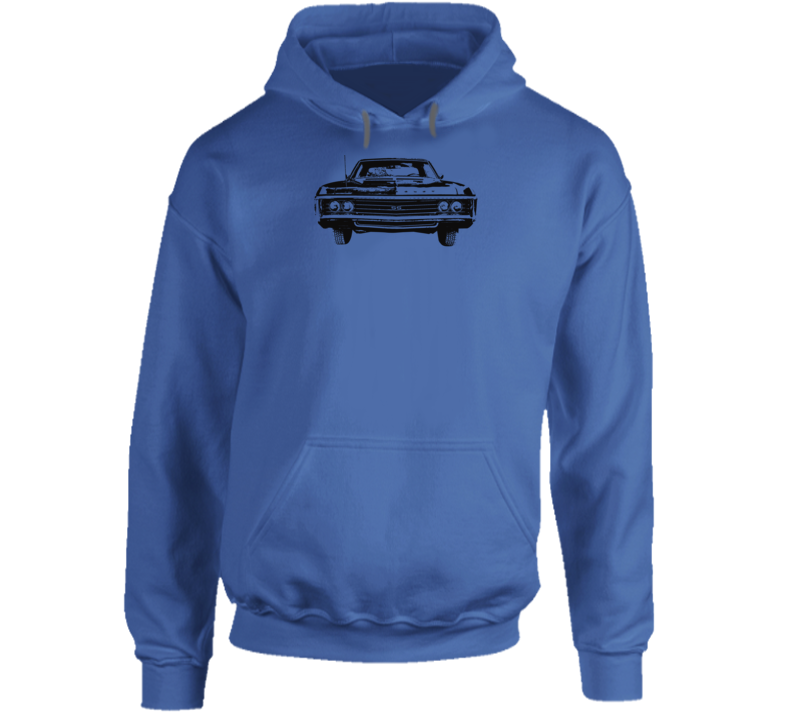 1969  Impala Grill View Super Comfy High Quality Light Color Hoodie