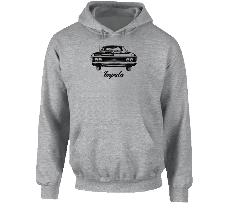 1969  Impala Grill View With Model Name Super Comfy Light Quality Light Color Hoodie