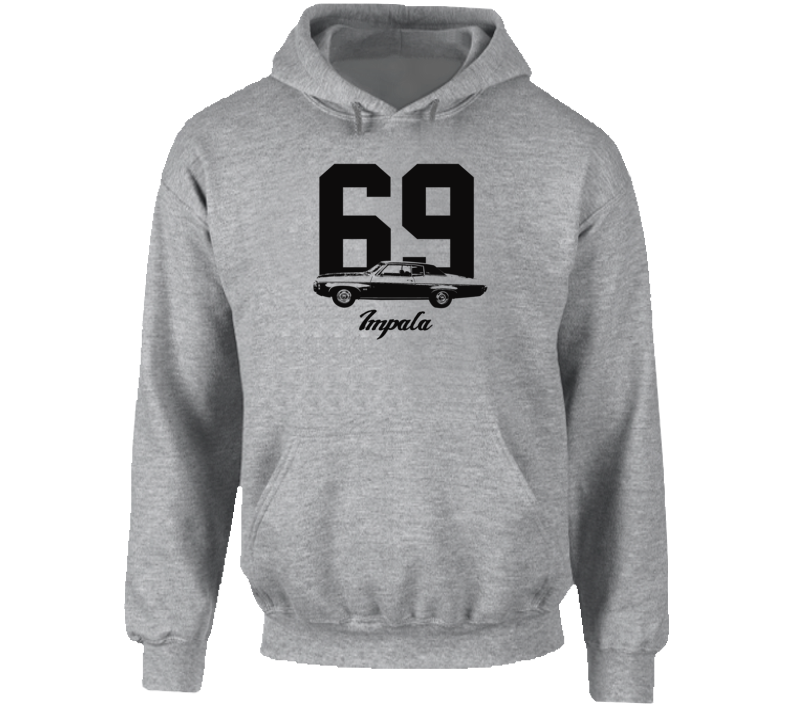 1969  Impala Side View With Year And Model Name Super Comfy High Quality Light Color Hoodie
