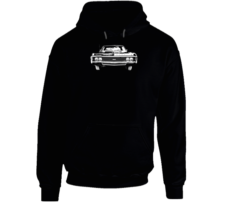 1969  Impala Grill View Super Comfy High Quality Dark Color Hoodie
