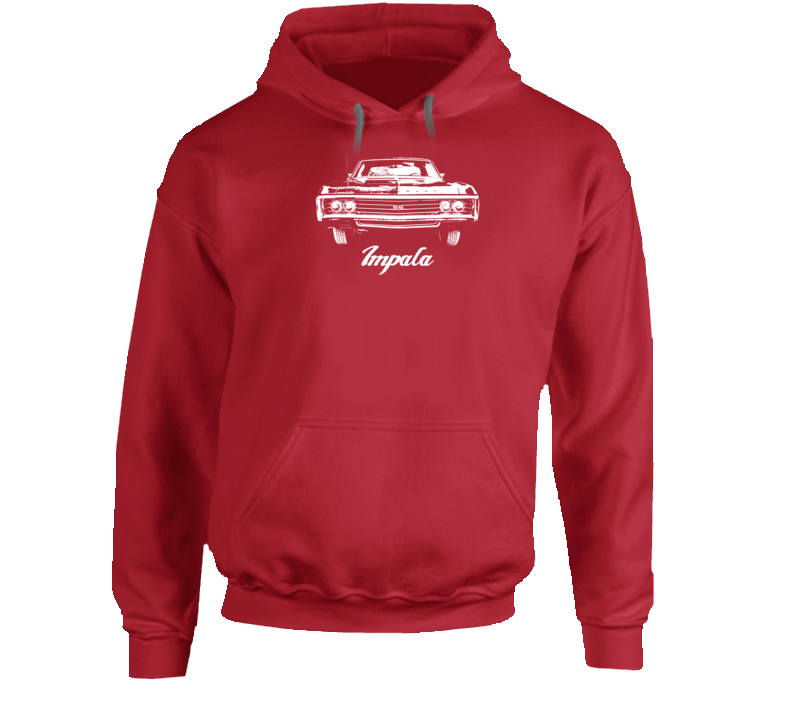 1969  Impala Grill View With Model Name Super Comfy High Quality Dark Color Hoodie