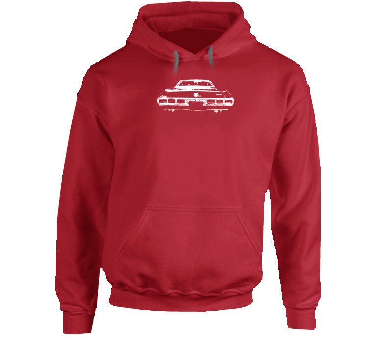 1969  Impala Rear View Super Comfy High Quality Dark Color Hoodie