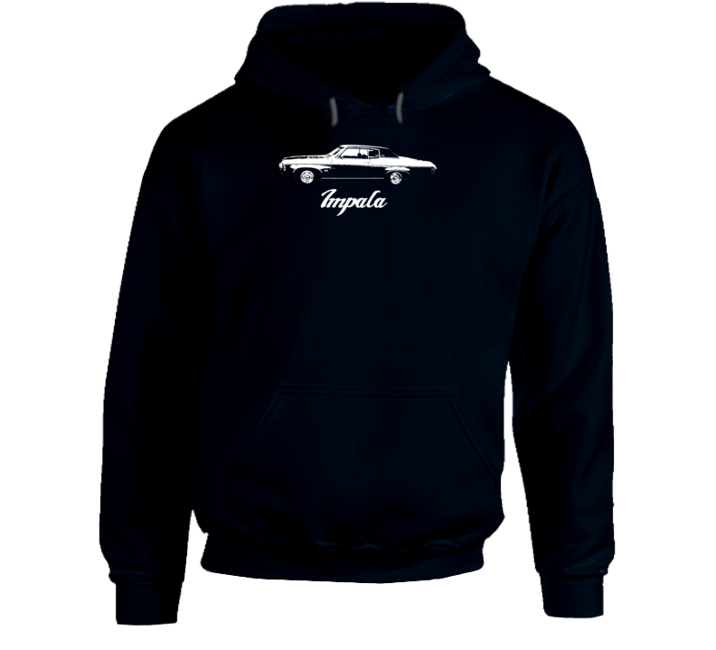 1969  Impala Side View With Model Name Super Comfy High Quality Dark Color Hoodie