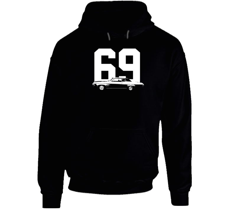 1969  Impala Side View With Year Super Comfy High Quality Dark Color Hoodie