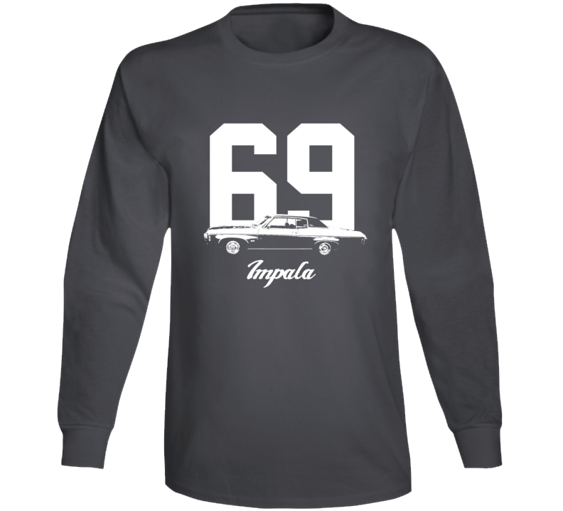 1969  Impala Side View With Year And Model Name Super Comfy High Quality  Tee Long Sleeve T Shirt