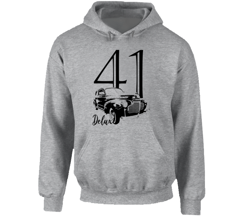 1941 Deluxe Three Quarter Angle View With Year And Model Name Super Comfy Light Color Hoodie