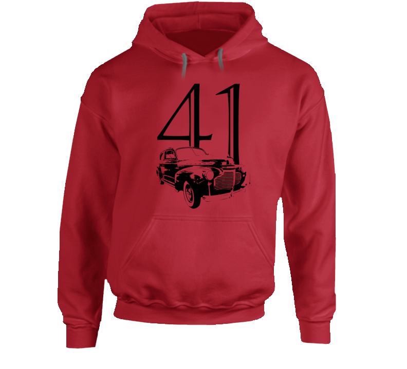 1941 Deluxe Three Quarter Angle View With Year Super Comfy Light Color Hoodie
