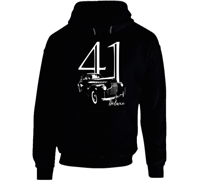 1941 Deluxe Three Quarter Angle View With Year And Model Name Super Comfy Dark Color Hoodie