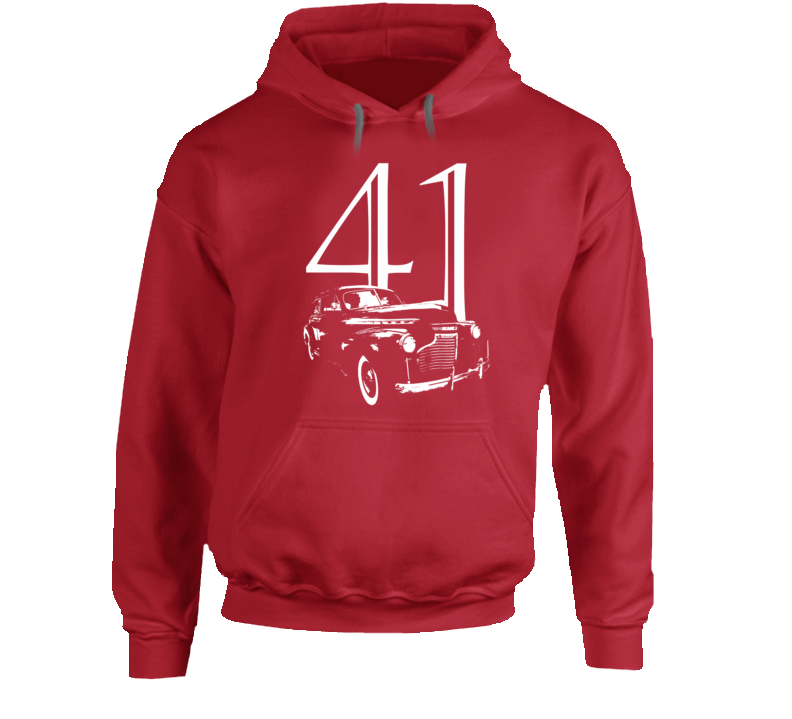 1941 Deluxe Three Quarter Angle View With Year Super Comfy Dark Color Hoodie
