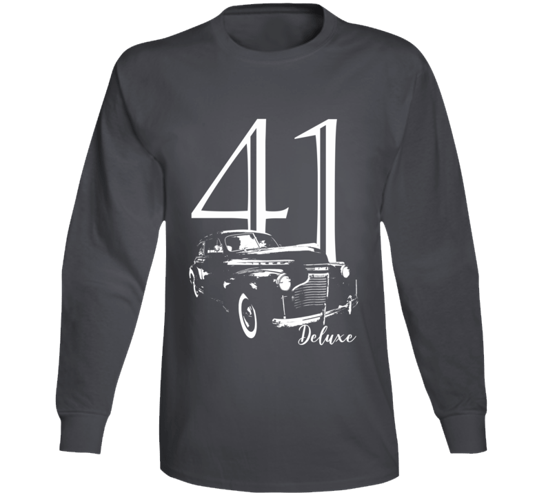 1941 Deluxe Three Quarter Angle View With Year And Model Name Super Comfy  Tee Long Sleeve T Shirt