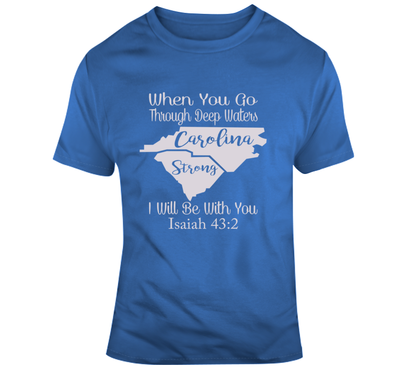 Carolina Strong_Gray Faith Blessed God Jesus Lord Church Bible Inspirational Motivational Christian Religious Pop Culture Hustle Funny Gift TShirt