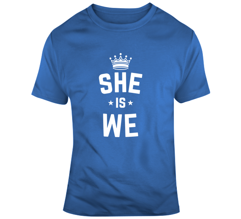 She Is We Women Faith Blessed Boss Entrepreneur Queen Crown God Jesus Lord Church Bible Inspirational Motivational Christian Religious Pop Culture Hustle Funny Gift TShirt