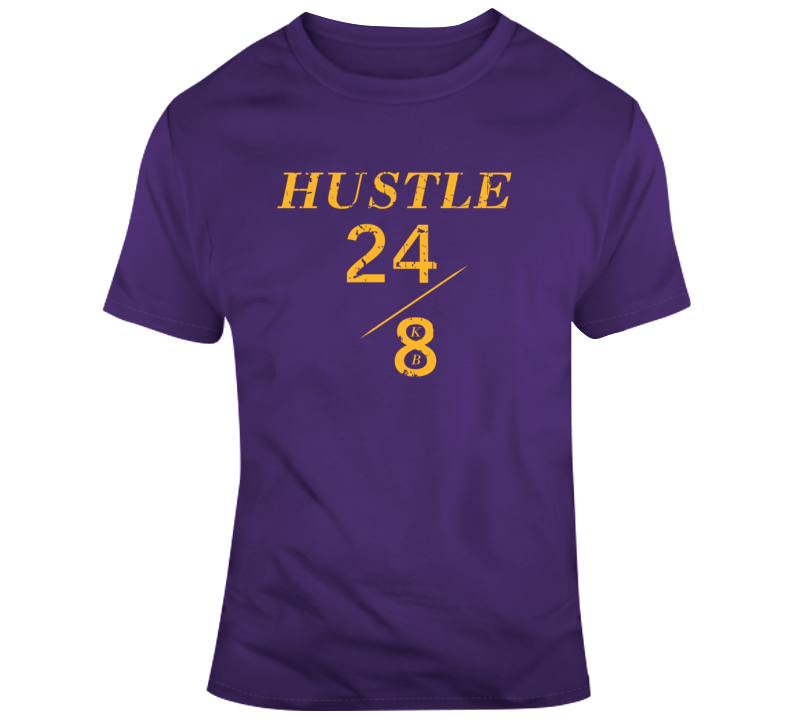 Hustle 24/8 KB #2 Lakers Faith Blessed Boss Entrepreneur Kobe Bryant Black Mamba Education God Jesus Lord Church Bible Inspirational Motivational Christian Religious Pop Culture Hustle Gift TShirt