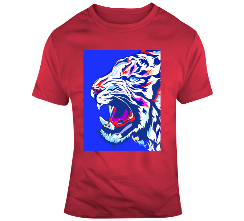 Tiger King_Blue Animal Boss Entrepreneur Nurse Teacher Inspirational Motivational Pop Culture Hustle World Global Gift Pandemic Coronavirus Covid-19 TShirt