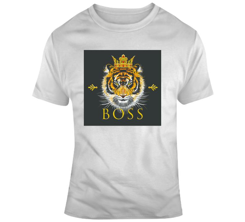 Tiger King_Boss Animal Entrepreneur Nurse Teacher Inspirational Motivational Pop Culture Hustle World Global Gift Pandemic Coronavirus Covid-19 TShirt