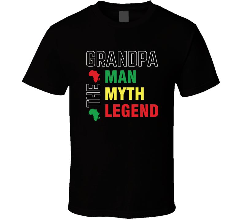 Grandpa: The Man Myth Legend Father's Day Blessed Faith Love God Jesus Legend Inspirational Motivational Pop Culture Hustle Gift TShirt