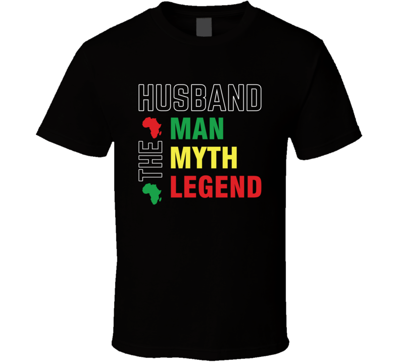 Husband: The Man Myth Legend Father's Day Blessed Faith Love God Jesus Legend Inspirational Motivational Pop Culture Hustle Gift TShirt