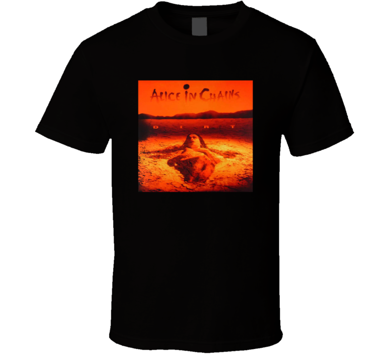 Alice In Chains Dirt Logo Rock Band T Shirt