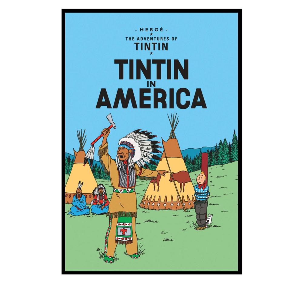 Tintin In Amerika Poster