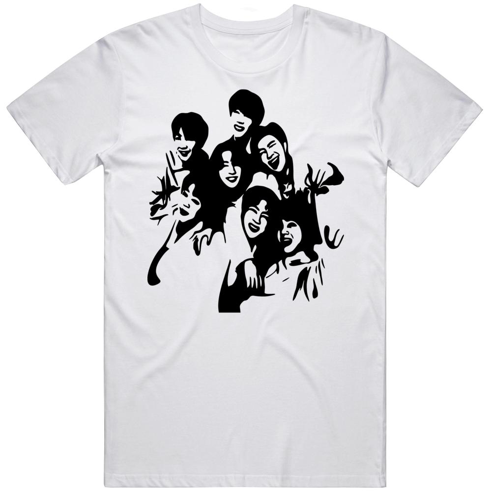 Bts Stencil Cartoon Logo  T Shirt