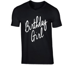 Holiday Theme Birthday Girl T-shirt For Women