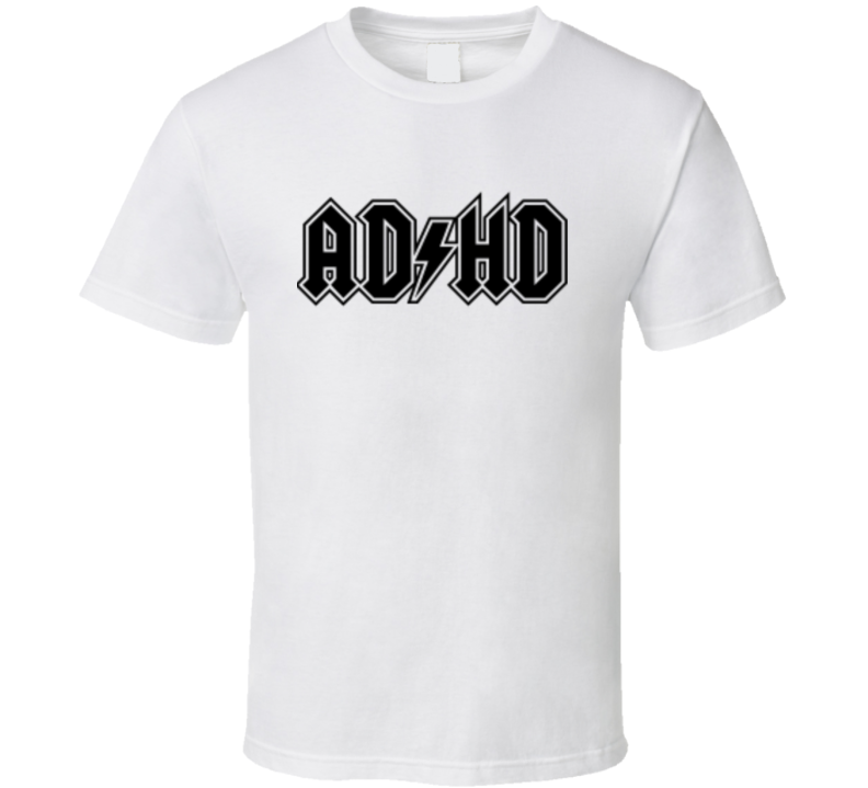 A D H D Funny Music Logo Parody T Shirt From Godfather T Shirts