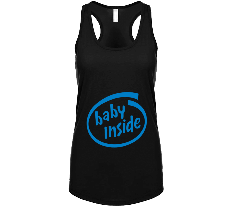 Baby Inside Racerback Tank-top