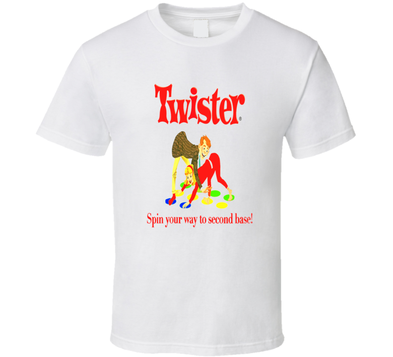 Twister Spin Your Way To Second Base Funny T shirt