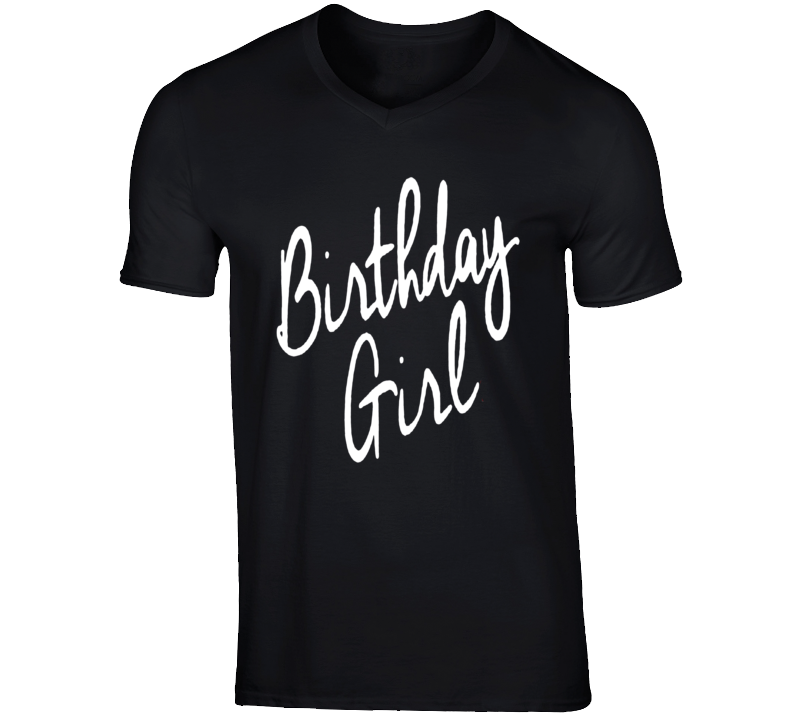 Holiday Theme Birthday Girl T-shirt For Women