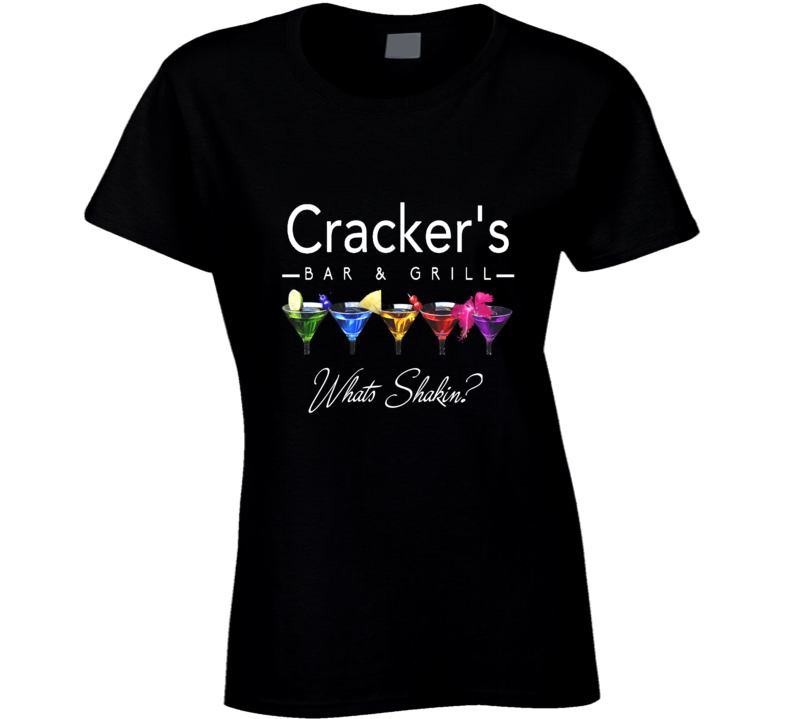Cracker's Bar & Grill What's Shakin? Ladies T Shirt