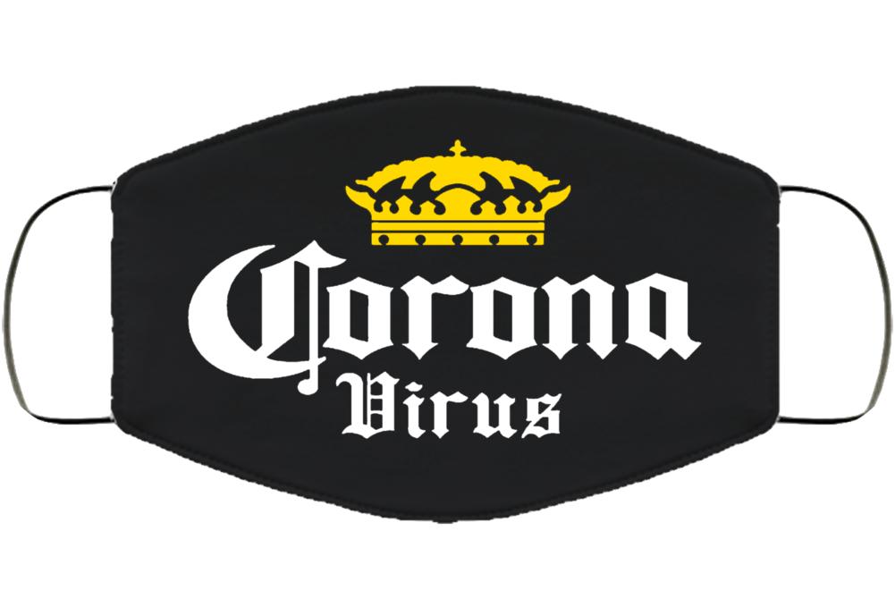 Corona Virus Logo Face Mask Cover