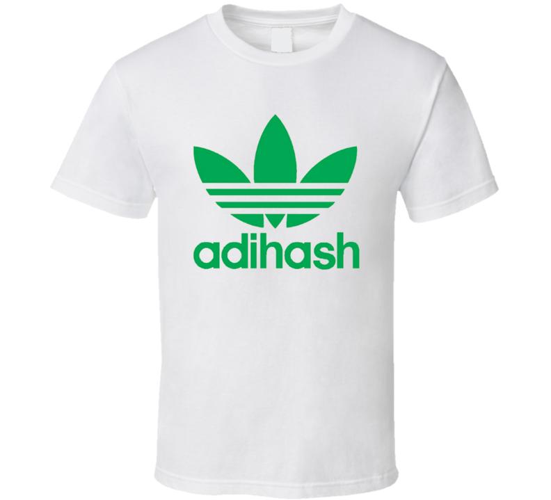 e05f8965b9 Adihash Funny Adidas Shoe Logo Parody T Shirt