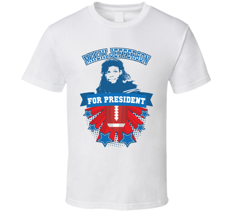 Malik Jefferson For President College Football Parody T Shirt