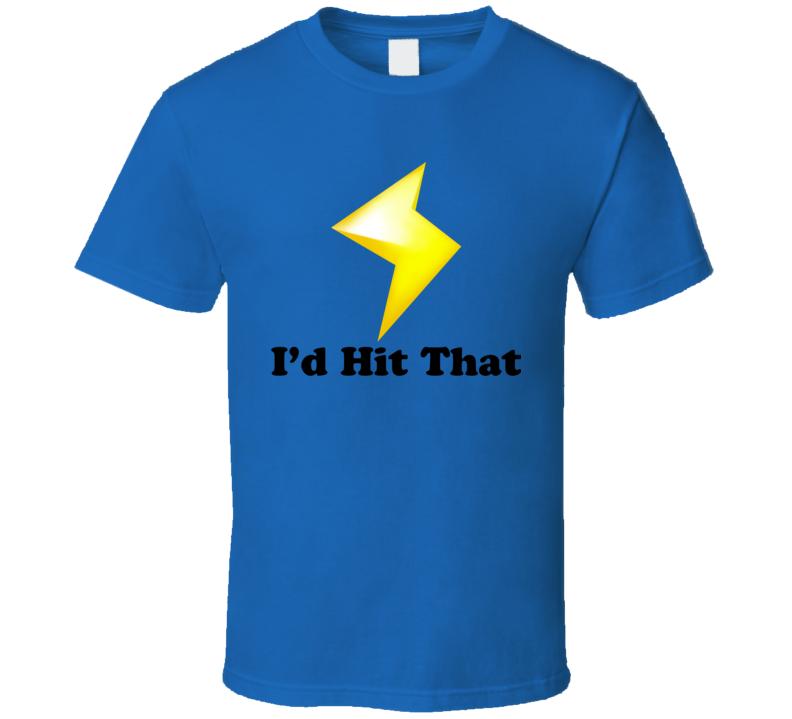 I'd Hit That Mario Kart Lightning Funny Nintendo Video Games T Shirt