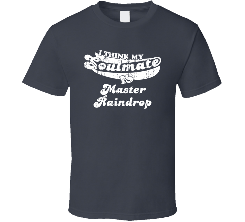 Think My Soulmate Is Master Raindrop  Christmas Gift Worn Look T Shirt
