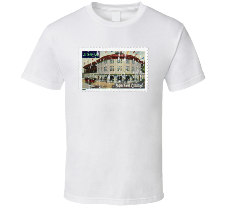 Legendary Playing Fields Forbes Field Stamp Collector Gift Worn Look T Shirt