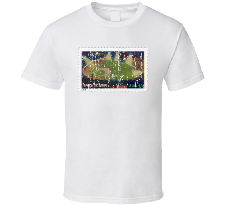 Legendary Playing Fields Fenway Park Stamp Collector Gift Worn Look T Shirt