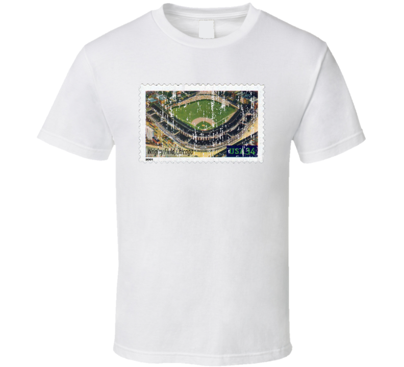 Legendary Playing Fields Wrigley Field Stamp Collector Gift Worn Look T Shirt