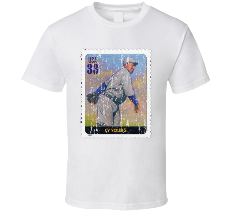Legends Of Baseball CY Young Stamp Collector Gift Worn Look T Shirt