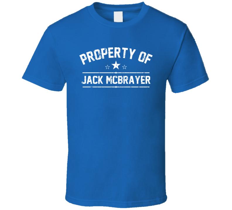Property Of Jack McBrayer Cool Celebrity Actor Fan Funny T Shirt