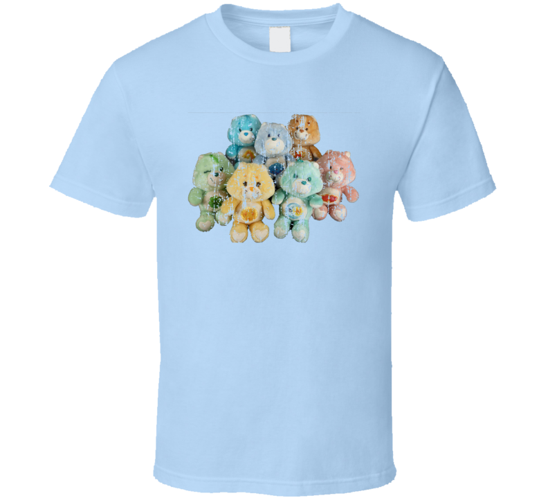 Care Bears Vintage Toy Cool Retro Old School Worn Look T Shirt
