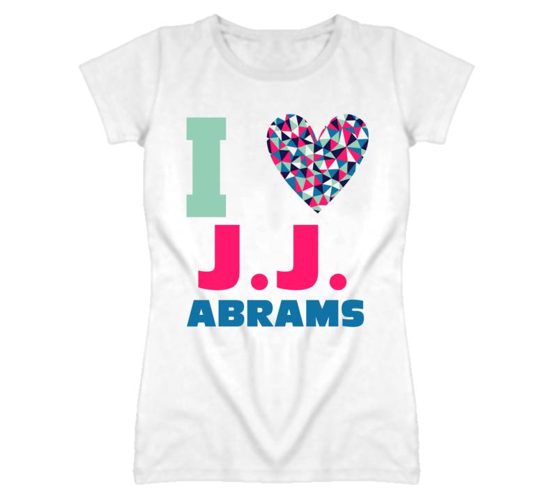 JJ Abrams I Heart Love Celebrity Fan T Shirt