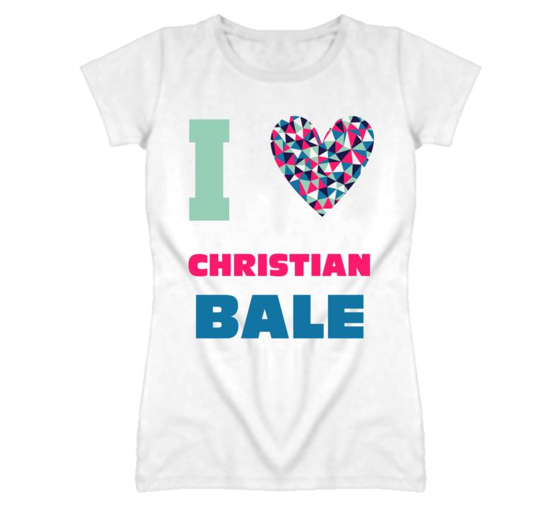 Christian Bale I Heart Love Celebrity Fan T Shirt