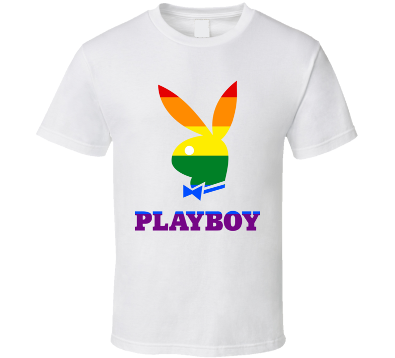 Playboy Supports LGBTQ Movement Playmate T Shirt