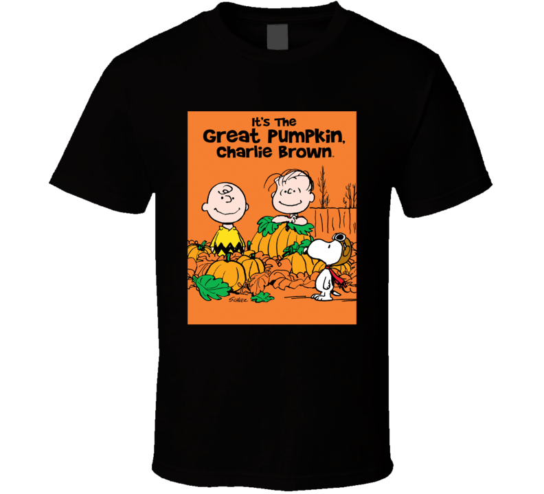 The Great Pumpkin Halloween Charlie Brown Cartoon Funny Gift T Shirt